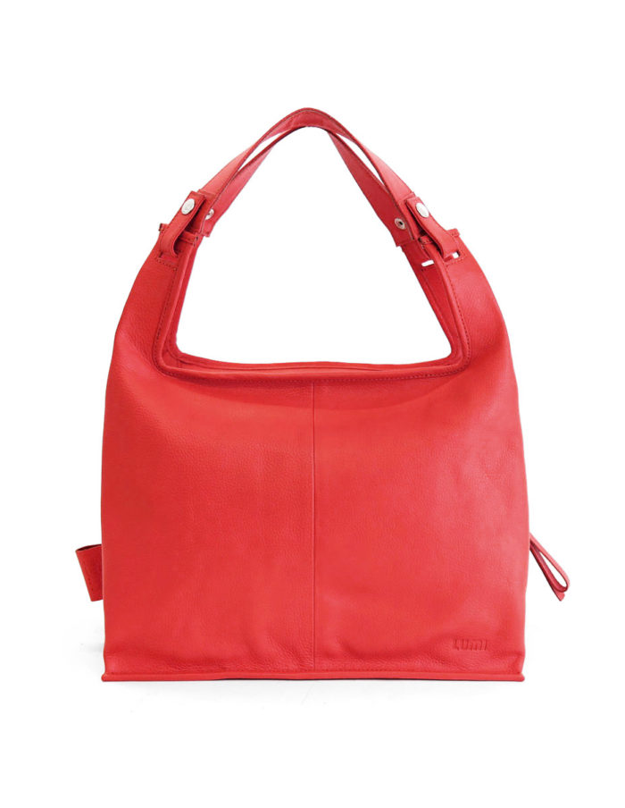 LUMI Supermarket Bag XL in coral red