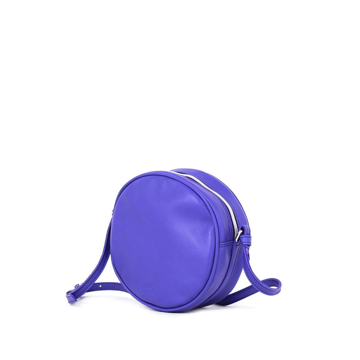 9df1e2cd79 Lila Round Bag Violet – Lumi Accessories