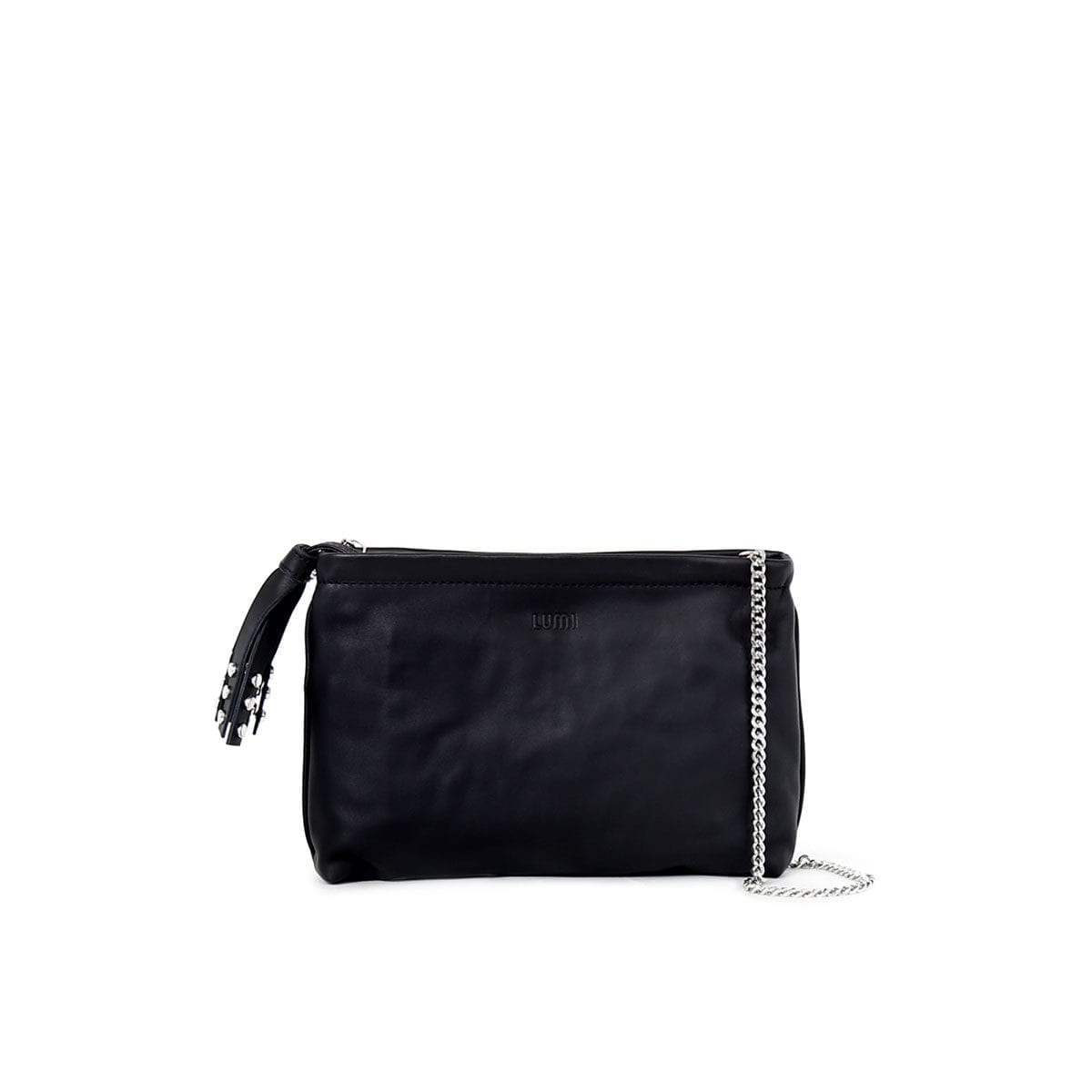 Tamara T-Bag in black converts nicely from day to night.