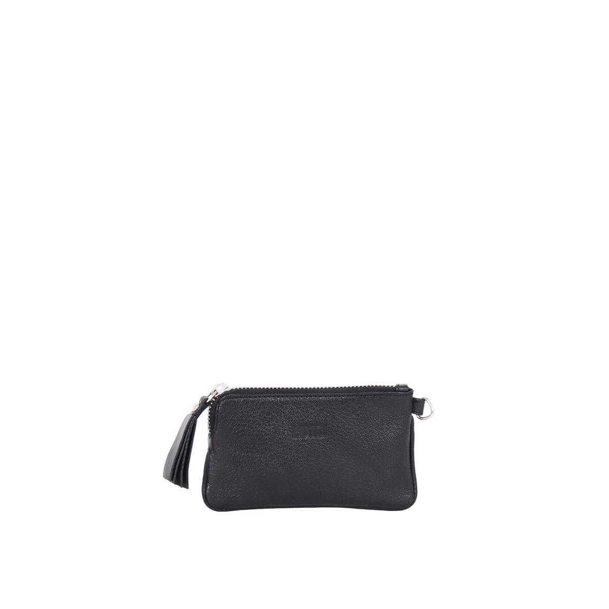 LUMI Anna Wallet in black.