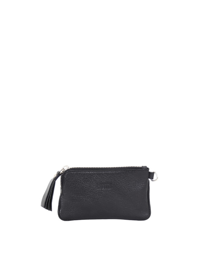 LUMI Anna Wallet in black.