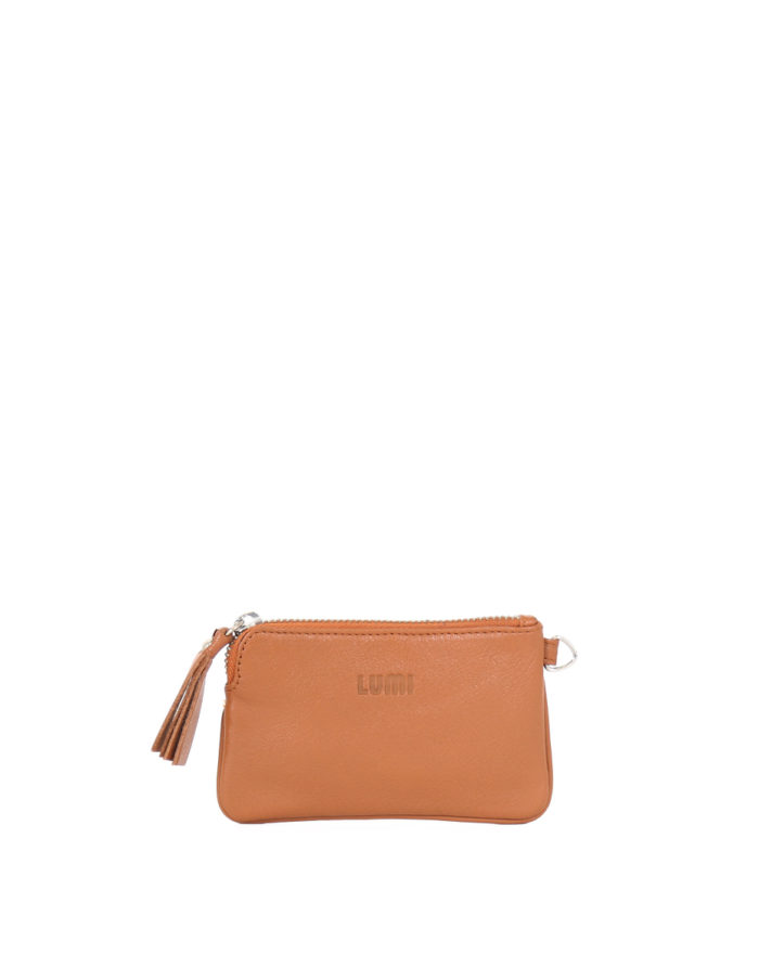 LUMI Anna Wallet in cognac.
