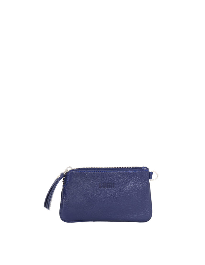 LUMI Anna Wallet in ocean blue.