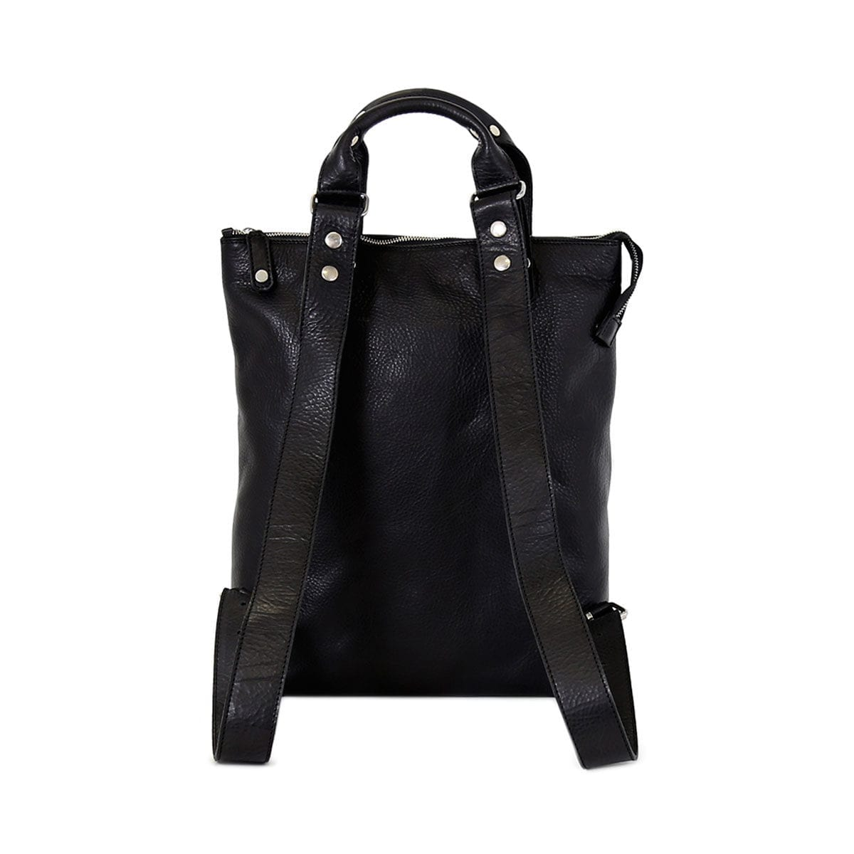 """LUMI Daniel Tote Backpack in black. Wear it on your back or use it as a tote bag, this roomy bag is great for all your urban adventures. It fits a 15"""" laptop and your daily essentials."""