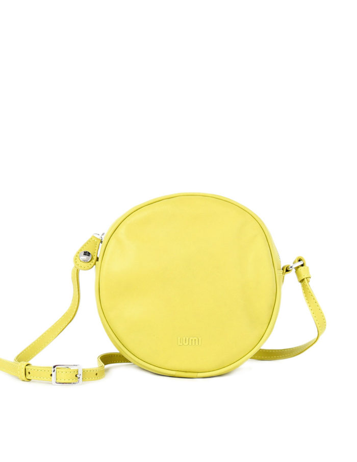 Lila Round Bag in bright and fresh lemon.