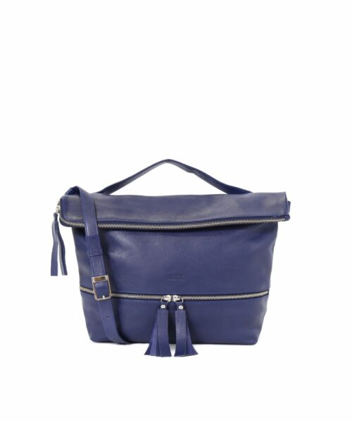 Lyydia Shoulder Bag in ocean blue.