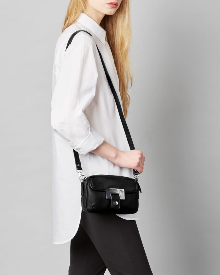LUMI Othilia Mini Cross Body Bag, in classic black, is a great everyday accessory.