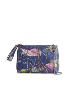 Tamara T-Bag featuring a new edition of LUMI floral pattern printed on leather, created by Finnish artist and illustrator Jenni Ritamäki