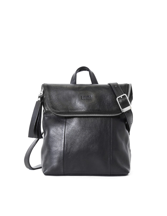 LUMI Sarita Mini Backpack Black.