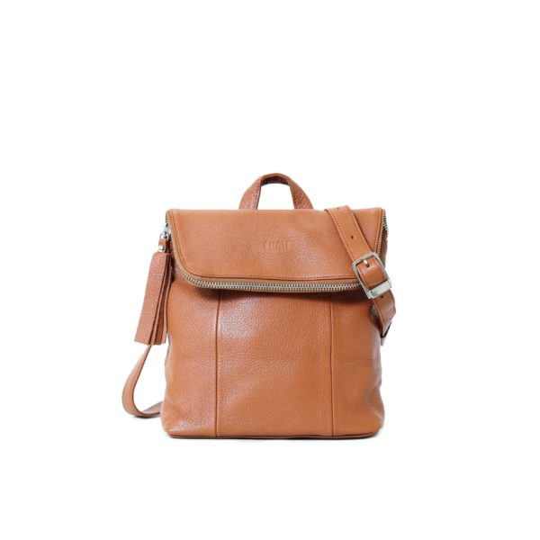LUMI Sarita Mini Backpack Cognac.