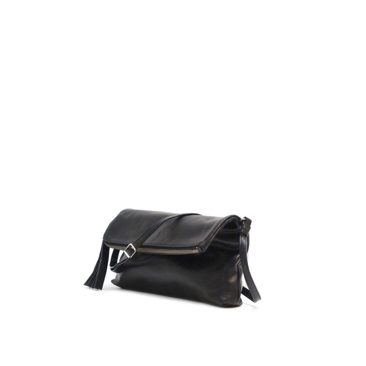 LUMI Stefanie Large Pouch in classic black.