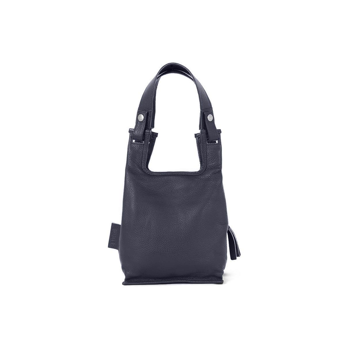 Supermarket Bag XS in navy blue.