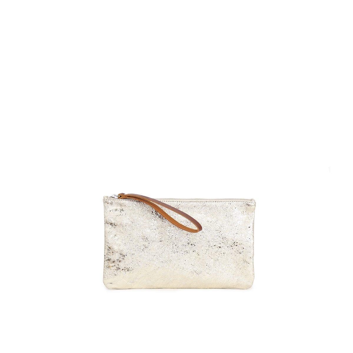 7bf7951d6b Raili Small Clutch Platinum Brown – Lumi Accessories